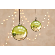 Nkuku Nari Giant Green Christmas Bauble