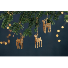 Nkuku Ramya Brass Wire Reindeer set of 3