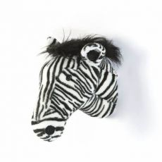 "Wild & Soft Plush ""Daniel The Zebra"" Wall Mounted Animal Head"