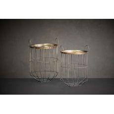 Nkuku Tor Side Table - Large - Brass