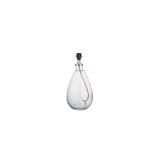 Nkuku - Baba Glass Lamp Base - Clear Glass