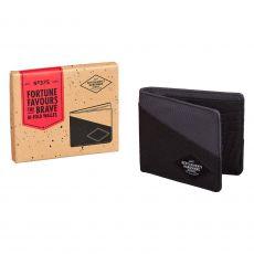 Gentleman's Hardware Black & Grey Bi Fold Wallet