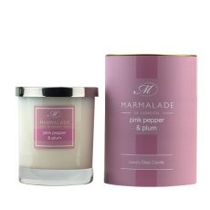 Marmalade Of London Pink Pepper & Plum Glass Candle