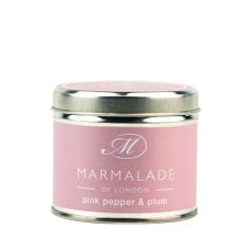 Marmalade of London Pink Pepper & Plum Tin Candle