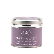 Marmalade of London Pomegranate & Pear Tin Candle