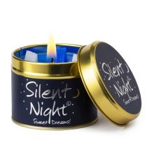 Lily Flame Silent Night Tinned Candle