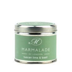 Marmalade of London Tuscan Lime & Basil Candle