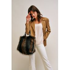 Luxurious Kersey Faux Fur Bag - Jet
