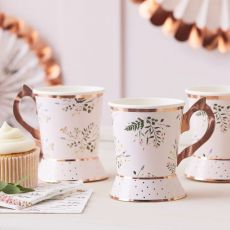 Ginger Ray Afternoon Tea Cup Shaped Paper Cups