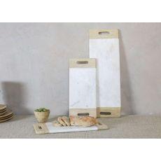 Nkuku - Bwari Marble Platter - White