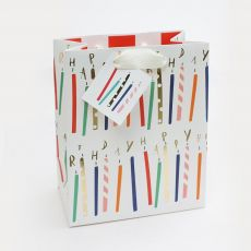 Caroline Gardner Foil Candles Gift Bag - Medium