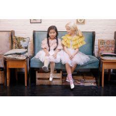 Bob & Blossom Chiffon Cape - Ballet Pink