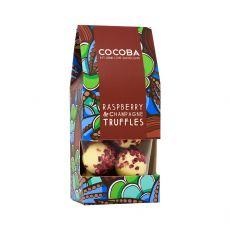Cocoba Raspberry & Champagne Truffles Boxed