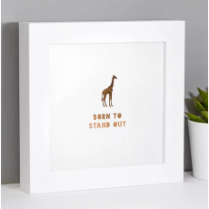 Coulson Macleod Giraffe 'Born to Stand Out'  Framed Foil Print