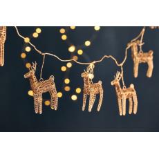 Nkuku Ramya Brass Wire Reindeer Garland