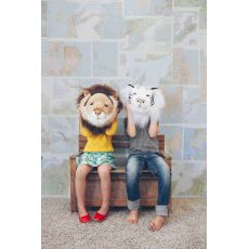 "Wild & Soft Plush ""Cesar The Lion"" Wall Mounted Animal Head"