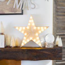Nordic Wooden Star Light