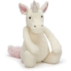"Jellycat White ""Bashful Unicorn"" Teddy"
