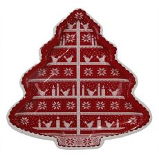 Knitted Noel Tree Platter