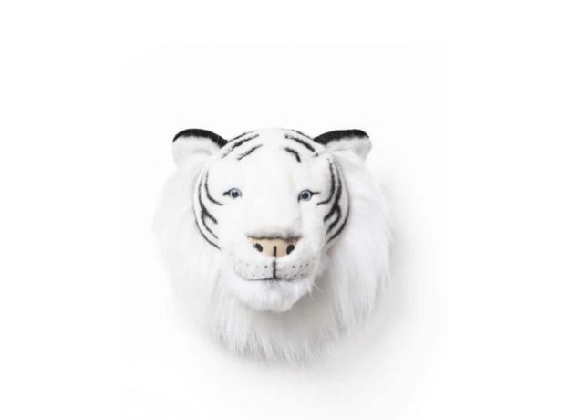 "Wild & Soft Plush ""Albert The White Tiger"" Wall Mounted Animal Head"