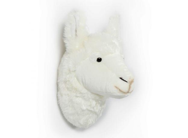 "Wild & Soft Plush ""Lily The Llama"" Wall Mounted Animal Head"