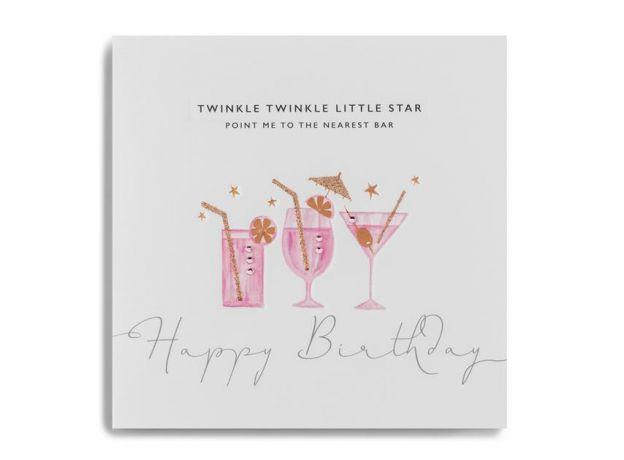"Janie Wilson ""Point Me To The Nearest Bar"" Birthday Card"