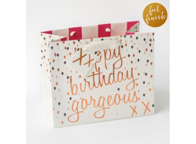 "Caroline Gardner ""Happy Birthday Gorgeous"" Gift Bag - Medium"