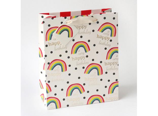 Caroline Gardner Rainbow Gift Bag - Large