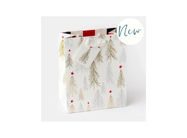 Caroline Gardner Christmas Trees Gift Bag - Medium