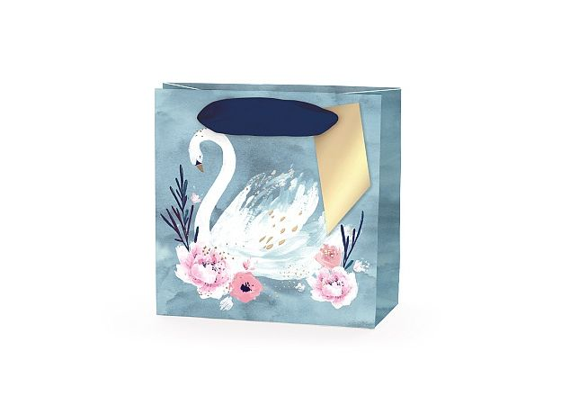Hotchpotch Swan Lake Pale Blue Swan Mini Gift Bag