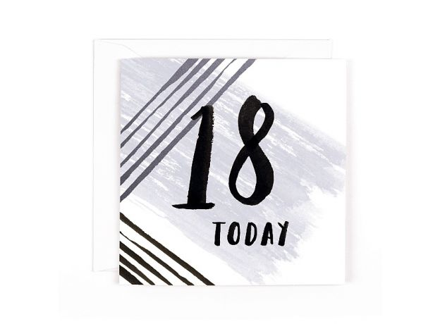 """Hotchpotch Luxe """"18 Today"""" Birthday Card"""