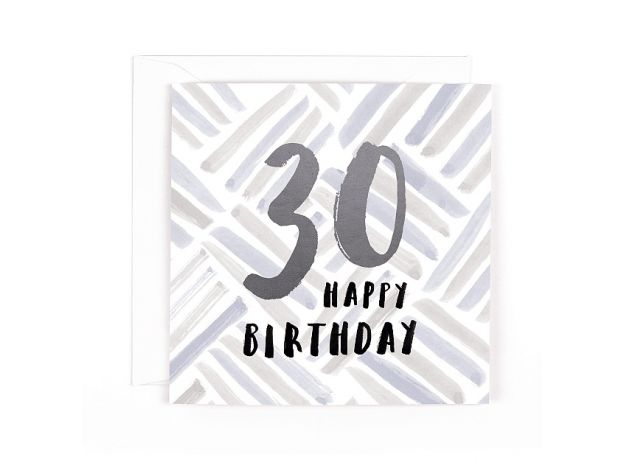 "Hotchpotch Luxe ""30"" Happy Birthday Card"
