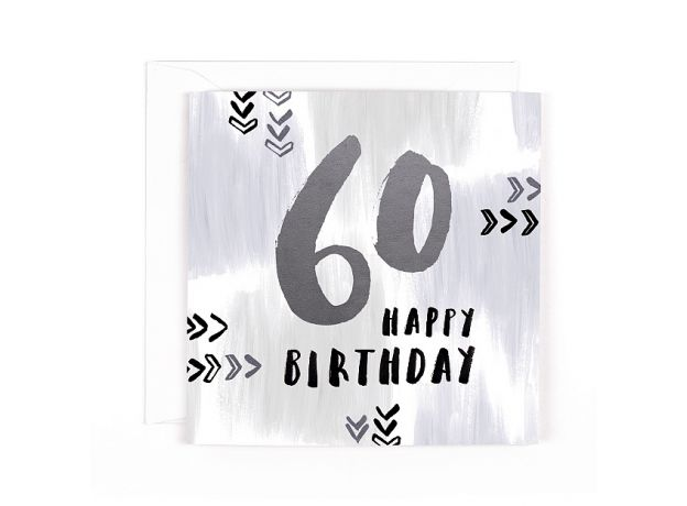 """Hotchpotch Luxe """"60"""" Happy Birthday Card"""