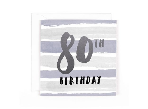 "Hotchpotch Luxe ""80th"" Birthday Card"