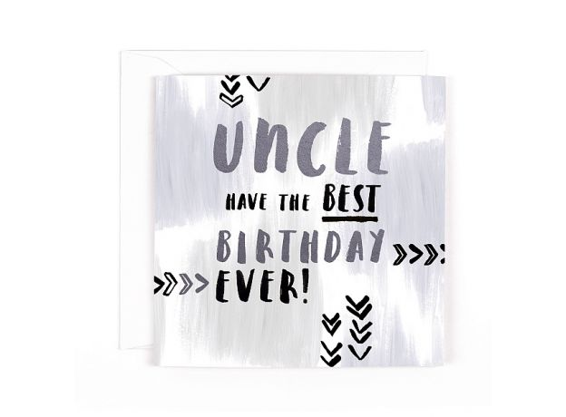 """Hotchpotch Luxe """"Uncle"""" Birthday Card"""