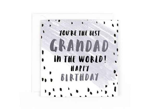"""Hotchpotch Luxe """"Best Grandad In The World"""" Birthday Card"""
