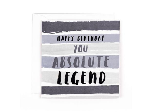 """Hotchpotch Luxe """"Absolute Legend"""" Birthday Card"""