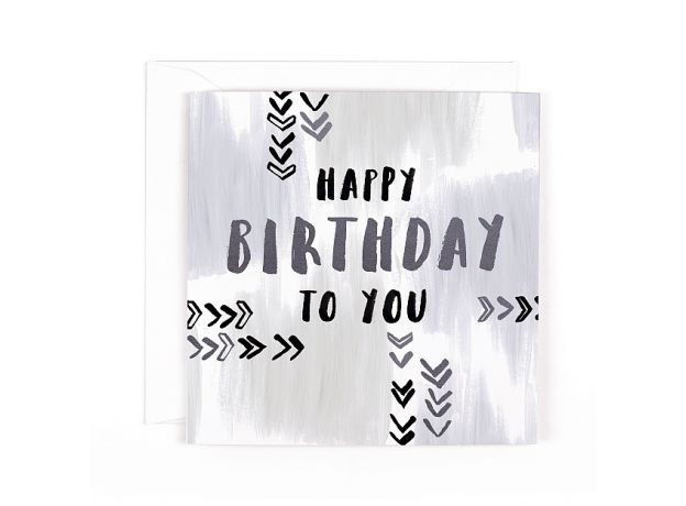 """Hotchpotch Luxe """"Happy Birthday To You"""" Birthday Card"""