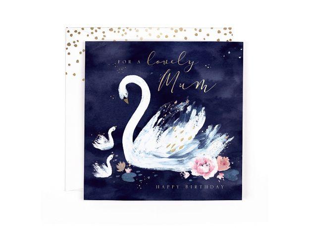 "Hotchpotch Swan Lake ""Lovely Mum"" Swan Birthday Card"