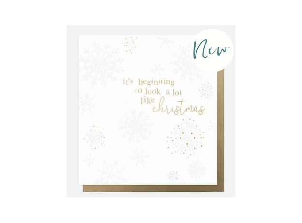 Caroline Gardner Snowflakes Charity Christmas Cards (Pack of 8)