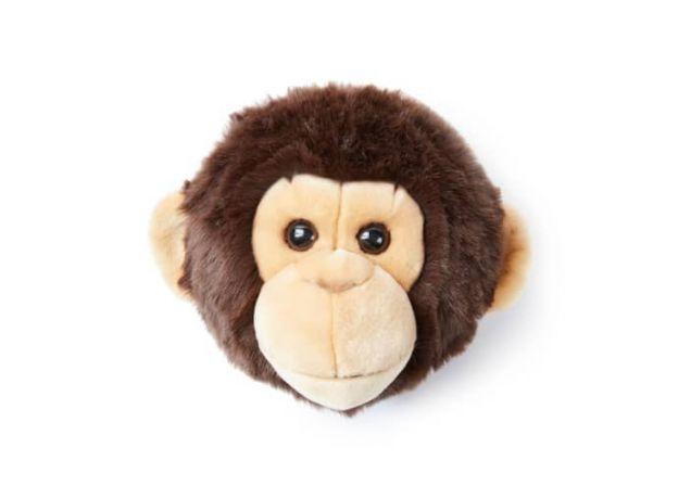 "Wild & Soft Plush ""Joe The Monkey"" Wall Mounted Animal Head"