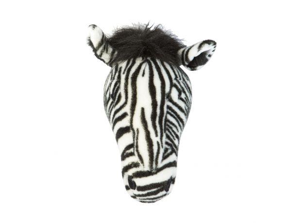"Wild & Soft Plush ""Daniel The Zebra"" Wall Mounted Animal Head"