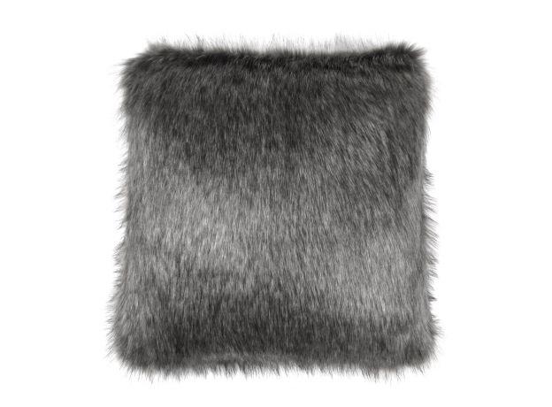 Luxurious Square 40cm Faux Fur Cushion & Pad  - Lady Grey