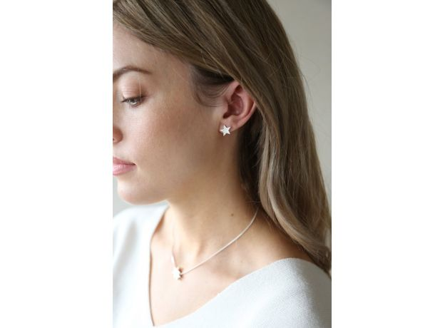 Tutti & Co Alpha Silver Earrings