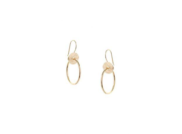 Tutti & Co Gold Tideline Earrings