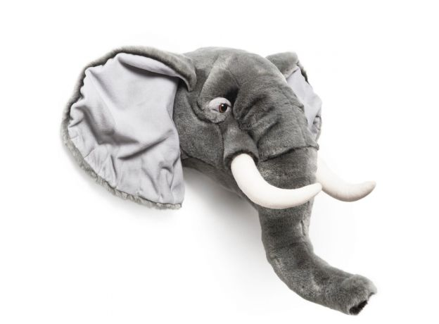 "Wild & Soft Plush ""George The Elephant"" Wall Mounted Animal Head"