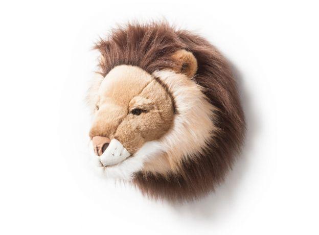 "Wild & Soft Plush ""Cesar The Lion"" Wall Mounted Animal Head"